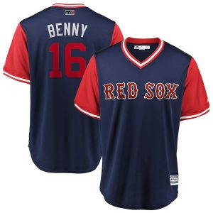 "Andrew Benintendi ""Benny"" Boston Red Sox Majestic 2018 Players' Weekend Cool Base Jersey – Navy/Red"