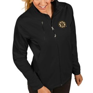 Boston Bruins Antigua Women's Discover Performance Full-Zip Jacket – Black