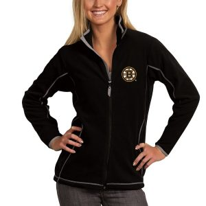 Boston Bruins Antigua Women's Ice Full Zip Jacket – Black