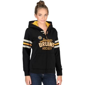 Boston Bruins CCM Women's Full Zip Hoodie – Black