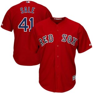 Chris Sale Boston Red Sox Majestic Alternate Cool Base Jersey – Red