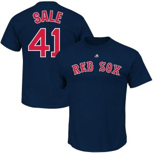 Chris Sale Boston Red Sox Majestic Name & Number T-Shirt – Navy