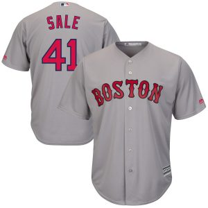 Chris Sale Boston Red Sox Majestic Road Cool Base Jersey – Gray