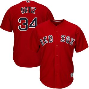David Ortiz Boston Red Sox Majestic Official Cool Base Player Jersey – Scarlet