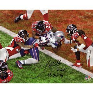 "Fanatics Authentic James White New England Patriots Autographed 8″ x 10″ Super Bowl LI Champions Game-Winning Touchdown Photograph with ""SB GW TD"" Inscription"
