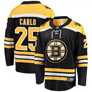 Fanatics Branded Brandon Carlo Boston Bruins Black Home Breakaway Player Jersey
