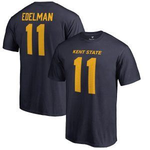 Fanatics Branded Julian Edelman Kent State Golden Flashes Navy College Legends Name & Number T-Shirt