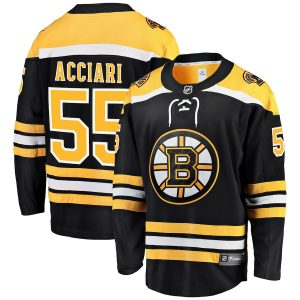 Fanatics Branded Noel Acciari Boston Bruins Black Home Breakaway Player Jersey