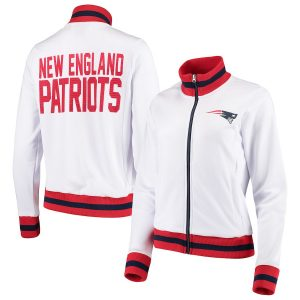 G-III 4Her by Carl Banks New England Patriots Women's White Field Goal Track Jacket