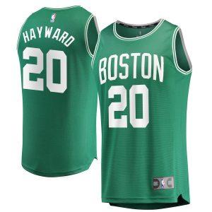 Gordon Hayward Boston Celtics Fanatics Branded Fast Break Replica Jersey Green – Icon Edition