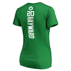 Gordon Hayward Boston Celtics Fanatics Branded Women's Backer Name & Number V-Neck T-Shirt – Kelly Green