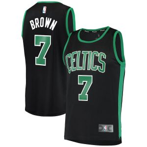 Jaylen Brown Boston Celtics Fanatics Branded Fast Break Replica Player Jersey – Statement Edition – Black