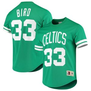 Larry Bird Boston Celtics Mitchell & Ness Hardwood Classics Mesh Name & Number T-Shirt – Kelly Green