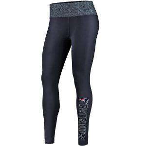 NFL Pro Line by Fanatics Branded New England Patriots Women's Navy/Heathered Blue Color Blast Leggings
