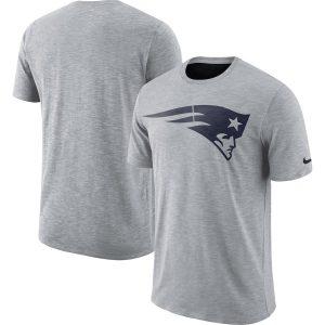New England Patriots Nike Sideline Cotton Slub Performance T-Shirt – Heathered Gray