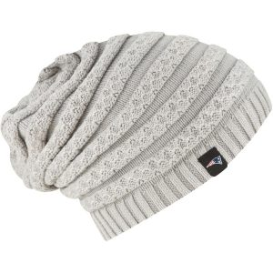 New Era New England Patriots Women's Gray Snowbank Knit Beanie