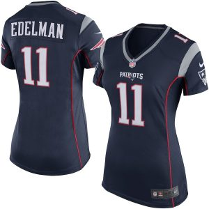 Nike Julian Edelman New England Patriots Women's Navy Blue Game Jersey –