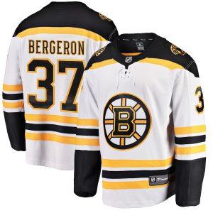 Patrice Bergeron Boston Bruins White Away Breakaway Player Jersey