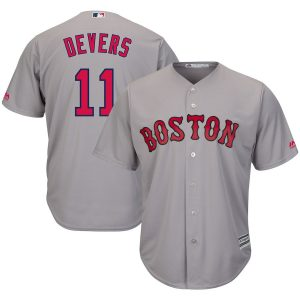 Rafael Devers Boston Red Sox Majestic Road Official Cool Base Player Jersey – Gray