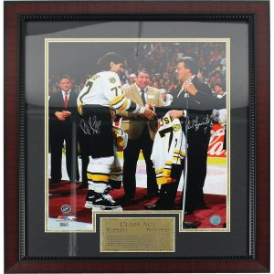 Ray Bourque/Phil Esposito Dual Signed Esposito Night Boston Bruins 16×20 Framed Photo