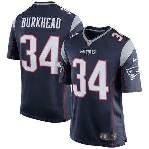 Rex Burkhead New England Patriots Nike Game Jersey – Navy