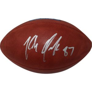 Rob Gronkowski New England Patriots Autographed Super Bowl 52 Wilson Official Football