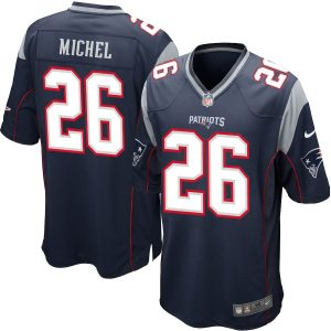 Sony Michel New England Patriots Nike 2018 NFL Draft First Round Pick #2 Game Jersey – Navy