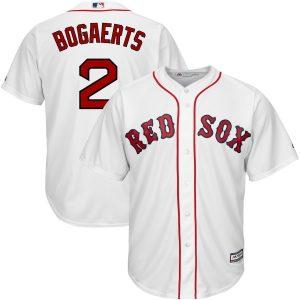Xander Bogaerts Boston Red Sox Majestic Cool Base Player Jersey – White