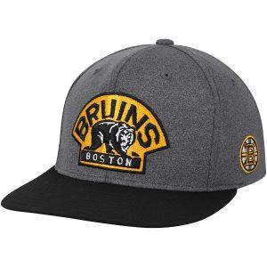 adidas Boston Bruins Heathered Gray/Black Snapback Adjustable Hat