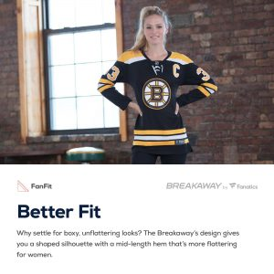 Boston Bruins Fanatics Branded Women's Breakaway Home Jersey – Black